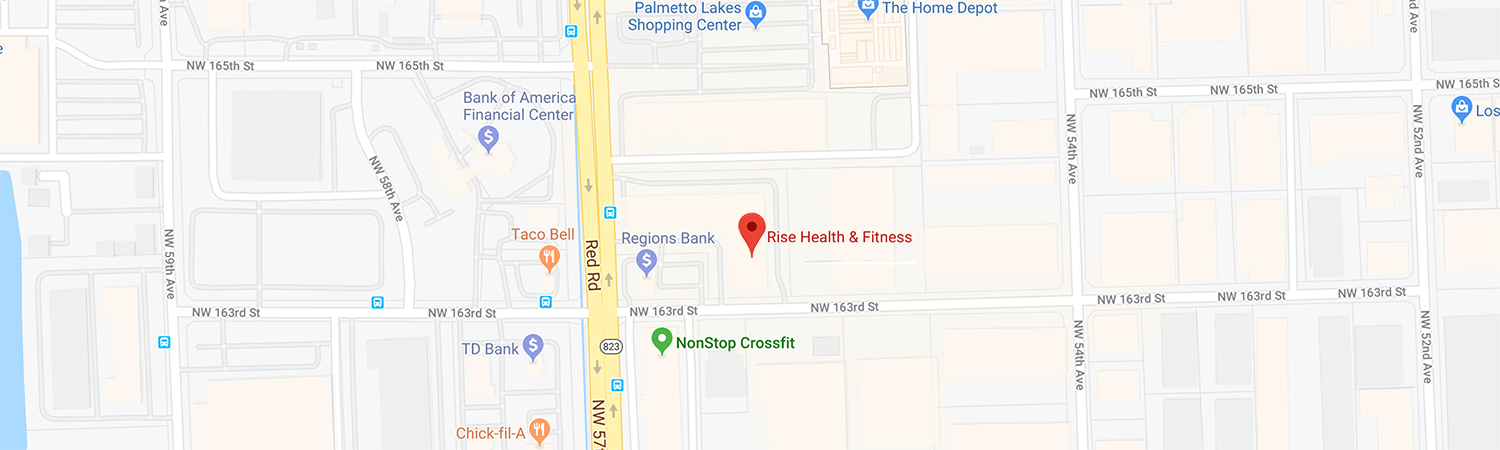 Location Map and Directions to Rise Fitness Miami